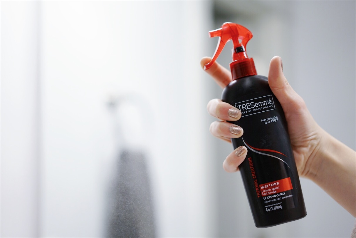 Tresemme heat protectant for my everyday hair.