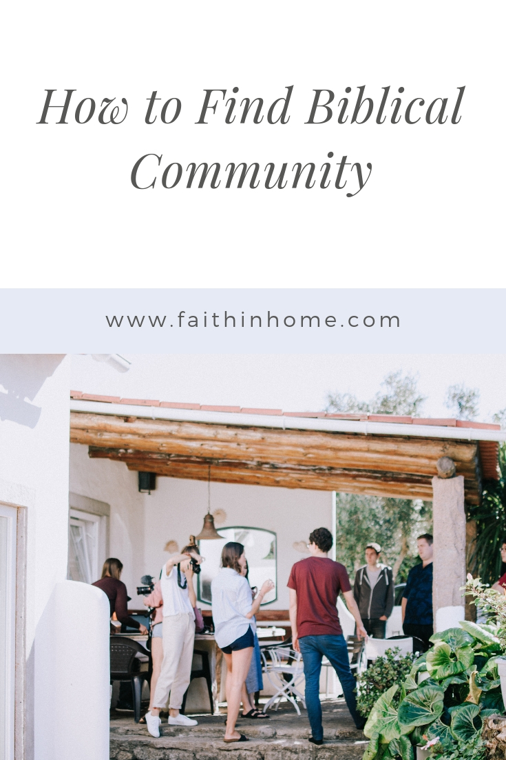 Pin Image - How to find Biblical community